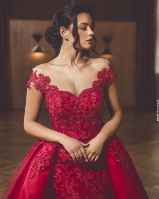Evening dress long red | Evening dresses with lace_2
