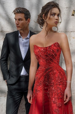 Evening dress red long cheap | Festive dresses prom dresses_6