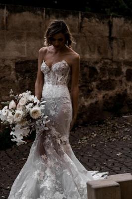 Günstige Hochzeitskleider | Brautkleider Meerjungfrau Spize_1