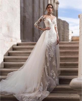 Günstige Hochzeitskleider A Linie | Brautkleid Spitze Kaufen_2