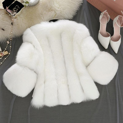 Fur women coat white winter coat cheap_6