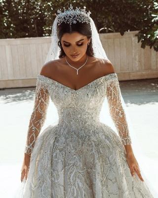 Extravagante Brautkleider A Linie | Hochzeitskleider mit Ärmel_8