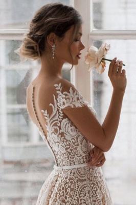 Designer Wedding Dresses A Line | Lace wedding dress maternity wear_4