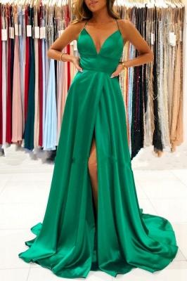 Abendkleid Lang Günstig Dunkel Grün Abiballkleide Online
