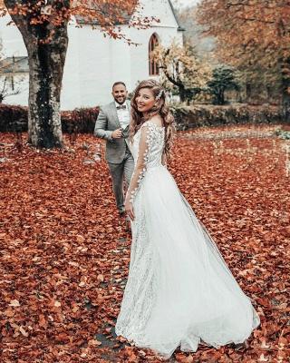 Hochzeitskleid Langarm | Brautkleider Spitze Günstig_5