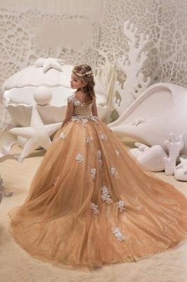 Schlichte Blumenmädchenkleider Günstig | Kinder Hochzeitskleider_2