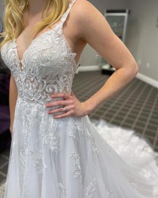 Schlichte Hochzeitskleider Günstig | Boho Brautkleid Spitze_3