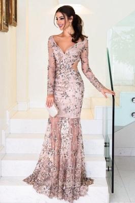 Elegante Abendkleider Lang Rosa | Abiallkleider mit Spitze_1