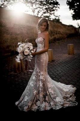Günstige Hochzeitskleider | Brautkleider Meerjungfrau Spize_3