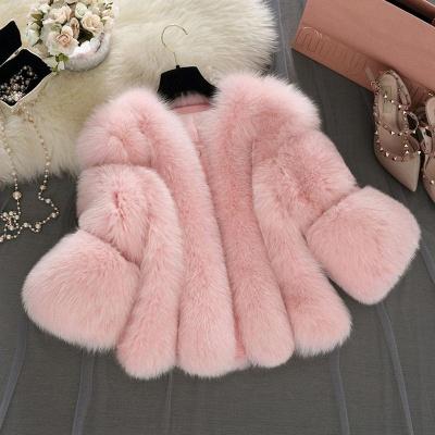 Fur women coat white winter coat cheap_7
