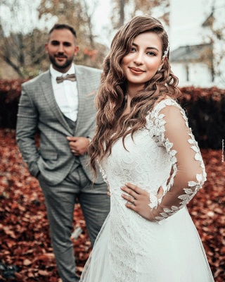 Hochzeitskleid Langarm | Brautkleider Spitze Günstig_3