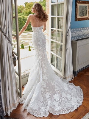 Günstige Hochzeitskleider | Brautkleider Meerjungfrau Spize_2