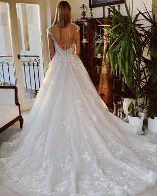 Hochzeitskleid Standesamt | Brautkleid A Linie Mit Spitze_2