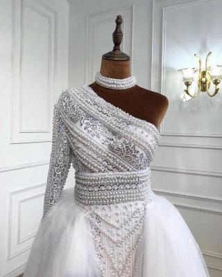 Elegante Abendkleider Lang Weiß | Abiballkleider Mit Ärmel_4