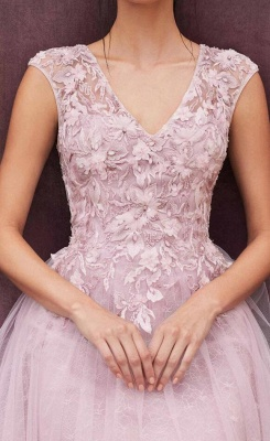 Elegant evening dresses pink | Short lace cocktail dresses_3