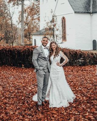 Hochzeitskleid Langarm | Brautkleider Spitze Günstig_2