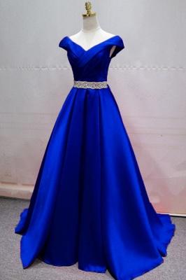 Abendkleider Lang Blau | Abendgarderobe Damen_1