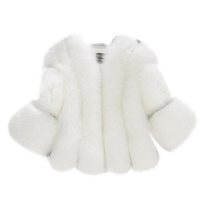 Fur women coat white winter coat cheap