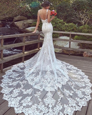Designer Brautkleider Meerjungfrau Spitze | Hochzeitskleider Günstig_2