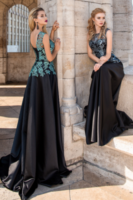 Elegant Evening Dresses Long Black | Prom dresses with lace_3