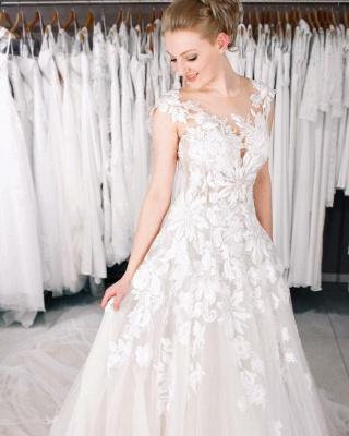 Designer Boho Brautkleider A linie | Hochzeitskleider Spitze_2