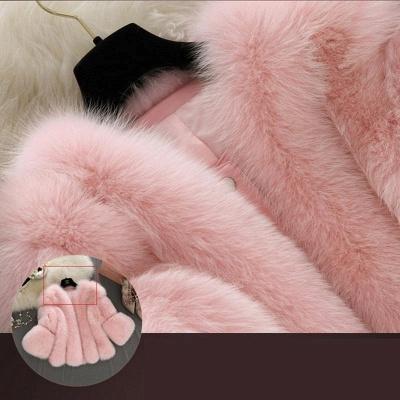 Fur women coat white winter coat cheap_8