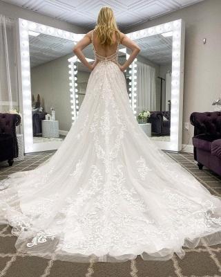 Schlichte Hochzeitskleider Günstig | Boho Brautkleid Spitze_2