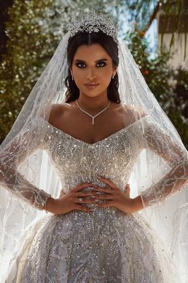 Extravagante Brautkleider A Linie | Hochzeitskleider mit Ärmel_4