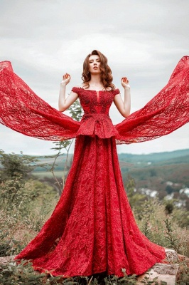 Red Prom Dresses Cheap | Evening dresses long lace_1