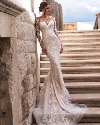 Günstige Hochzeitskleider A Linie | Brautkleid Spitze Kaufen_3