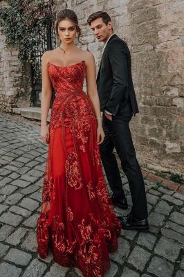 Abendkleid Rot Lang Günstig | Festliche Kleider Abiballkleider_4