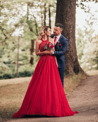 Designer Evening Dresses Long Red | Prom dresses with lace_4