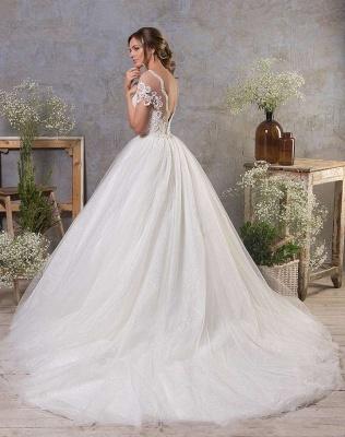 Schlichte Hochzeitskleider A Linie | Brautkleid Tüll_2
