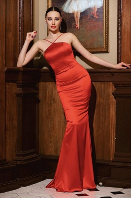 Plain evening dress red | Prom dresses long cheap_1