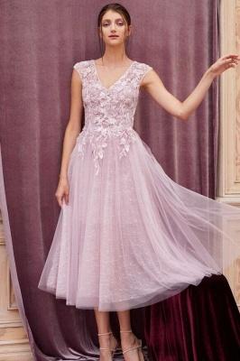 Elegant evening dresses pink | Short lace cocktail dresses_1