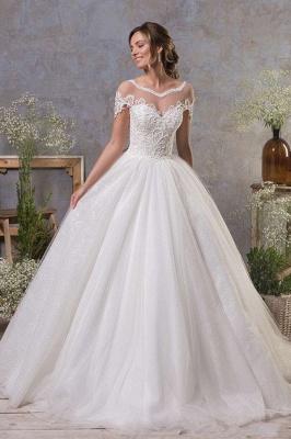 Schlichte Hochzeitskleider A Linie | Brautkleid Tüll_1