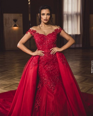 Evening dress long red | Evening dresses with lace_4