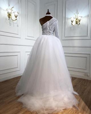 Elegante Abendkleider Lang Weiß | Abiballkleider Mit Ärmel_2
