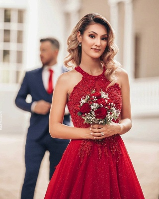 Designer Evening Dresses Long Red | Prom dresses with lace_7