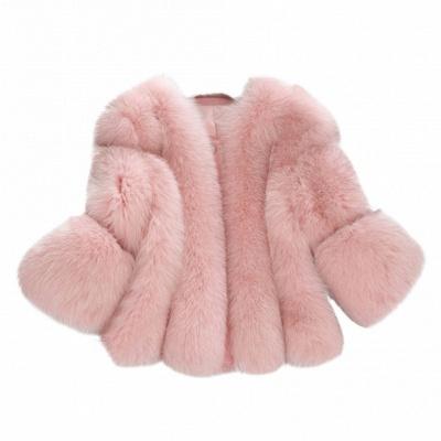 Fur women coat white winter coat cheap_2