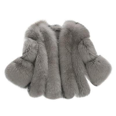 Fur women coat white winter coat cheap_3