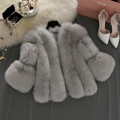 Fur women coat white winter coat cheap_11