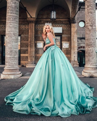 Lighter green evening dresses | Prom dresses long cheap_4
