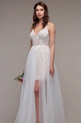 Schlichtes Hochzeitskleid Günstig | Boho Wedding Dresses_1