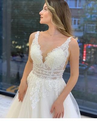 Vintage Bruatkleid A Linie | Hochzeitskleider Spitze Günstig_3