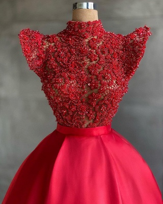 Designer Evening Dresses Long Cheap | Red prom dresses_2