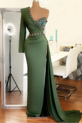 Elegant evening dress green | Prom dresses long cheap