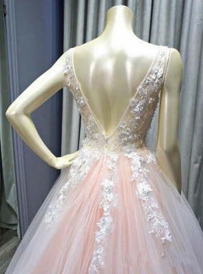 Elegant evening dresses long pink | Prom dresses with lace_4