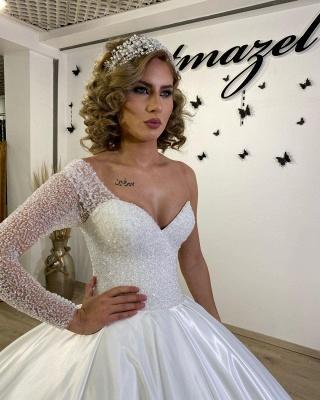 Luxus Brautkleider Prinzessin | Hochzeitskleider mit Ärmel_3