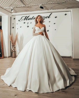 Luxus Brautkleider Prinzessin | Hochzeitskleider mit Ärmel_4